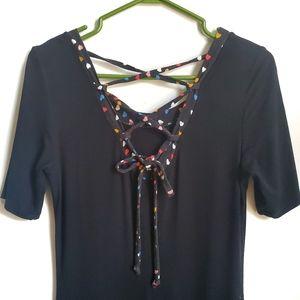 Katrin Leblond Black Backlaced Dress